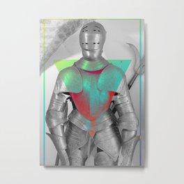 Empty Armor Metal Print
