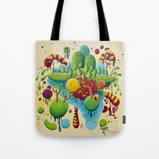 Dripping Drops Tote Bag