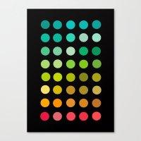 pantone Canvas Prints featuring Pantone by lescapricesdefilles