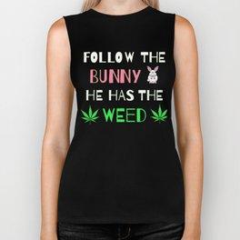 Marijuana Easter Bunny | Weed and Cannabis 420 Biker Tank