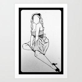 Dressy Femme. Art Print
