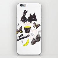 et iPhone & iPod Skins featuring Le Lièvre et le Renard by Esthera Preda