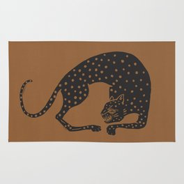 Blockprint Cheetah Rug