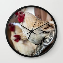 Roosting Hen Wall Clock