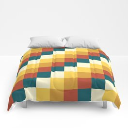 My Honey Pot - Pixel Pattern in yellow tint colors Comforters