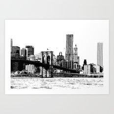 New York line Art Print