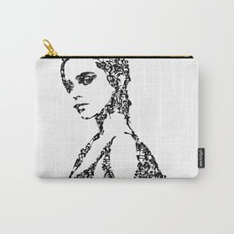 Kanji Calligraphy Art :woman's face #30 Carry-All Pouch