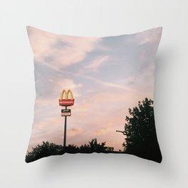 the golden arches Throw Pillow