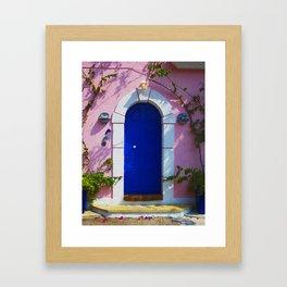 Greek Door  Nº2 Framed Art Print