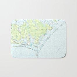 Cape Lookout National Seashore & Morehead City Map Bath Mat