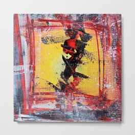 What the Hell - colorful abstract painting Metal Print