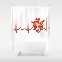 Biomedical Engineer Heartbeat Shower Curtain