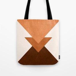 Geometric Blocks in Terracotta Tote Bag