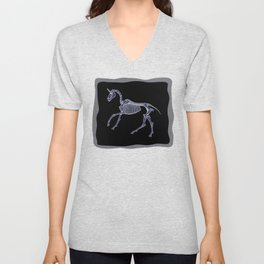 Unicorn Fossil Unisex V-Neck