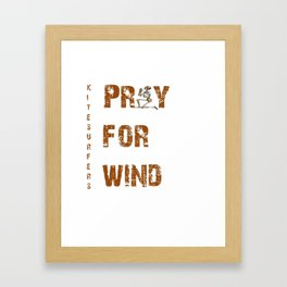 Kitesurfers Pray for Wind Framed Art Print