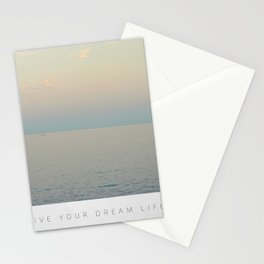 Live your dream life Stationery Cards