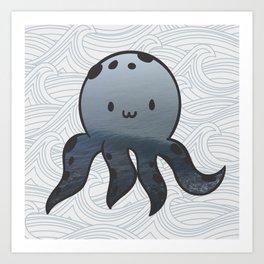 Little Octopus Art Print