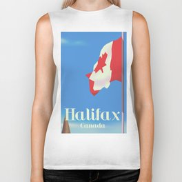 Halifax Canada travel poster Biker Tank