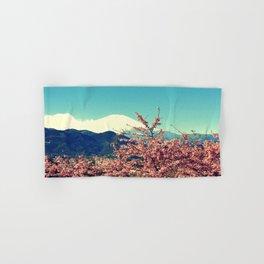 Mountains & Flowers Landscape Hand & Bath Towel