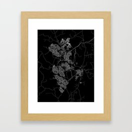 Canberra map Australia Framed Art Print