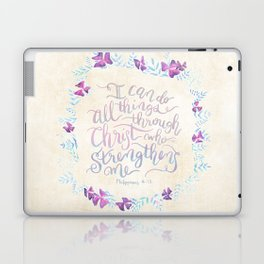 I Can Do All Things - Philippians 4:13 Laptop & iPad Skin