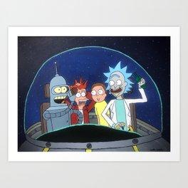 Space Drunks Art Print