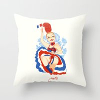 france Throw Pillows featuring France by Melissa Ballesteros Parada