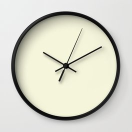 Solid Light Beige Color Wall Clock