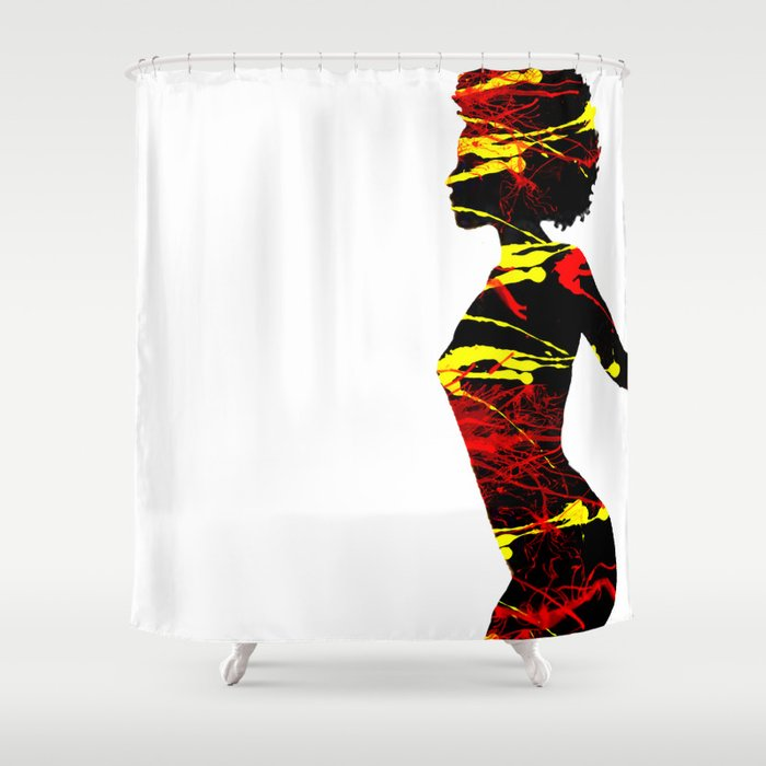 Color Girl Power Shower Curtain