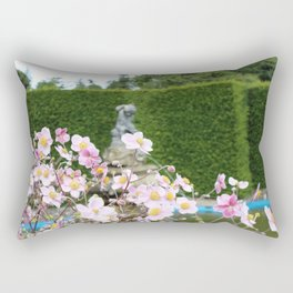 Flowers and Fountains Rectangular Pillow