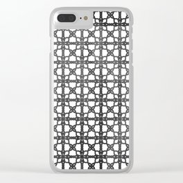 Oriental hand drawn pattern Clear iPhone Case