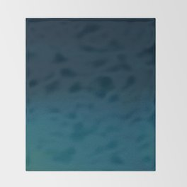 Hand painted navy blue green watercolor ombre brushstrokes Throw Blanket