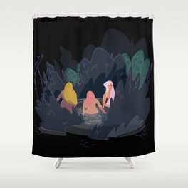 Night Pond Shower Curtain