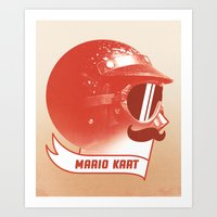 mario kart Art Prints featuring Mario Kart by Chase Kunz