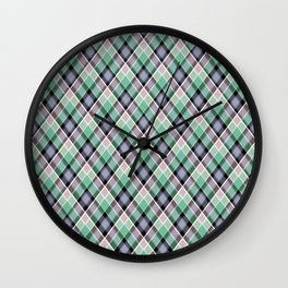 18 Plaid Wall Clock