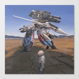 Robotech Canvas Print