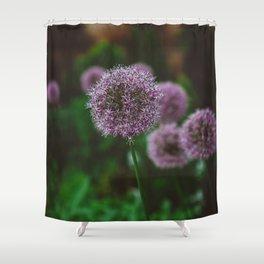 New York Alliums II Shower Curtain