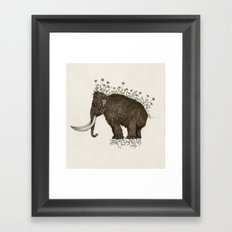 mammoth in bloom Framed Art Print