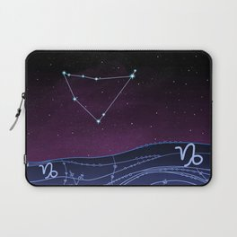 Capricorn Zodiac Constellation Design Laptop Sleeve