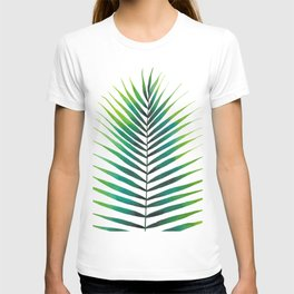 Tropical Palm Leaf #1   Watercolor Painting T-shirt
