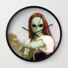 Bouguereau's Alien Shepherdess Wall Clock