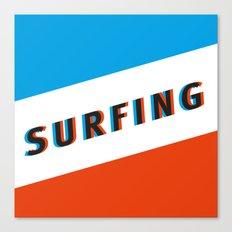 SURFING 3D - Square Canvas Print