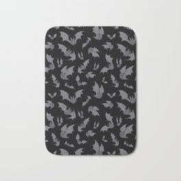 Bats Black Bath Mat