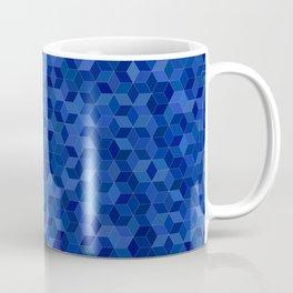 Cubes - Dark Blue Coffee Mug