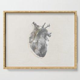 golden polygon heart Serving Tray