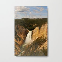 Majestic Yellowstone Upper Falls Metal Print