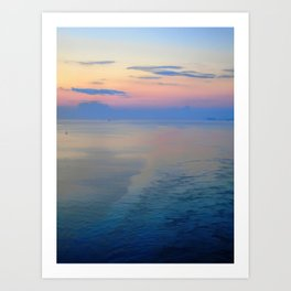 Abstract Sunrise Sailing Into Boston Art Print