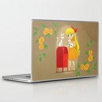 sailor venus Laptop & iPad Skins featuring Retro Sailor Venus by Crimson Pumpkin