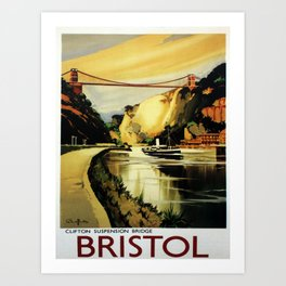 Affiche Bristol poster Art Print