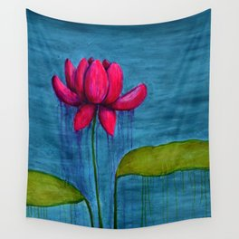 Pink Lotus Wall Tapestry